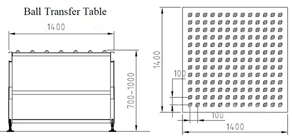 ball transfer table conveyor
