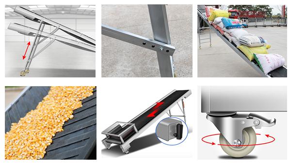 features of loading belt conveyor